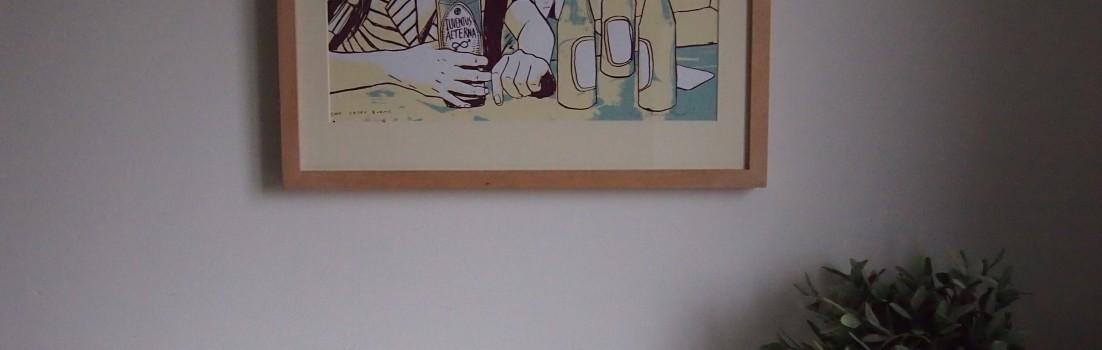 Casey Burns' Sonic Youth giposter - framed