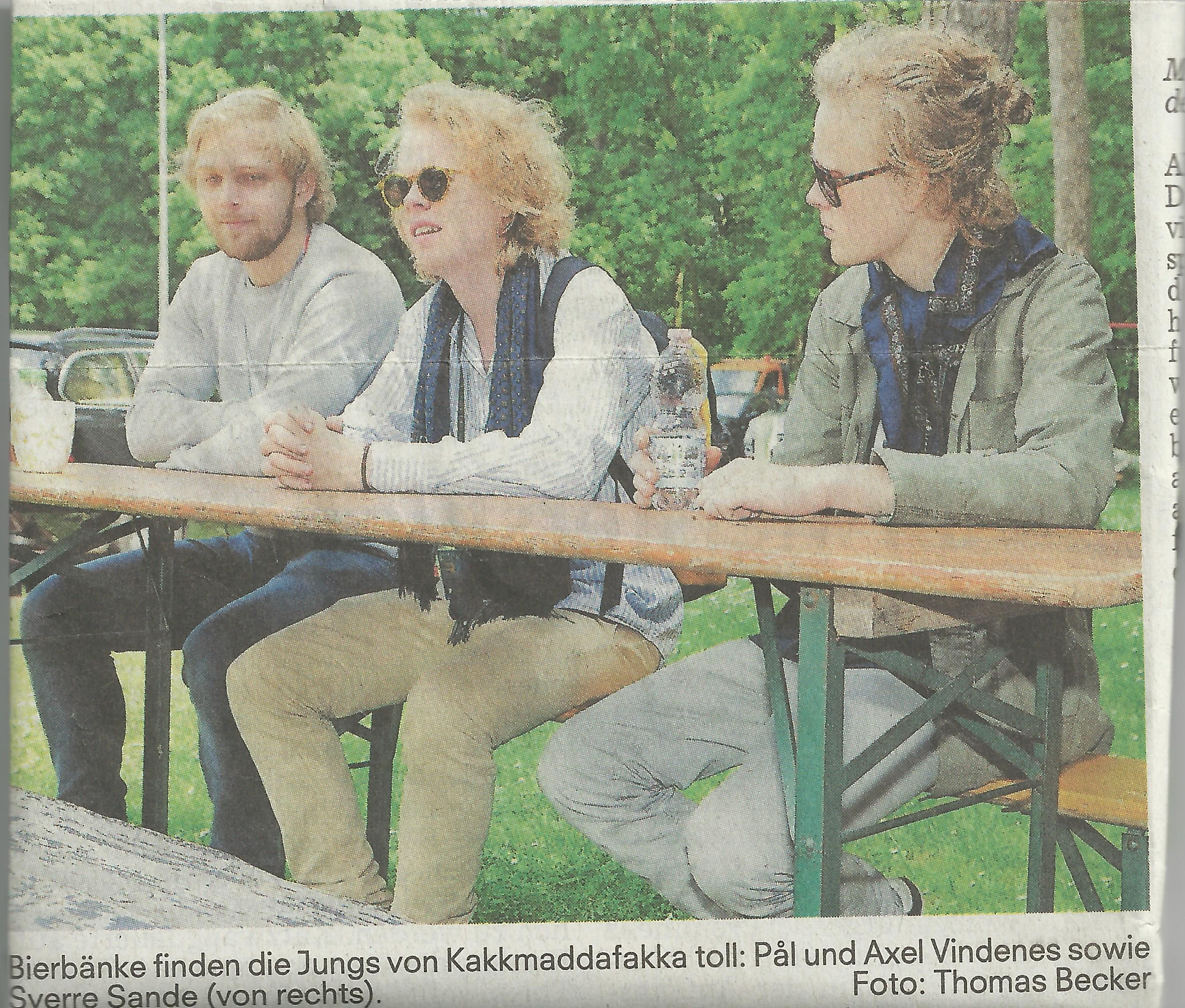 Kakkmaddafakka Loves German Biergarten